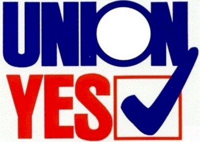 A new PR campaign might be needed for greater support for Union jobs.