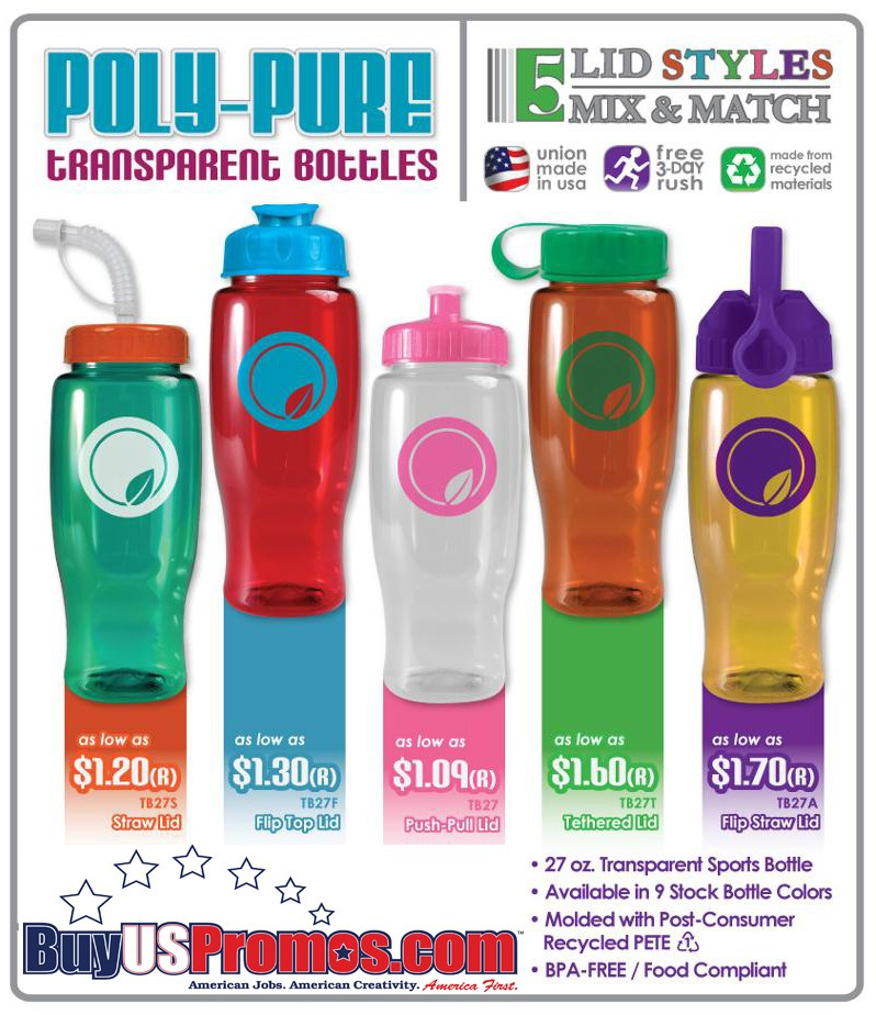 promotional water bottles made in the USA