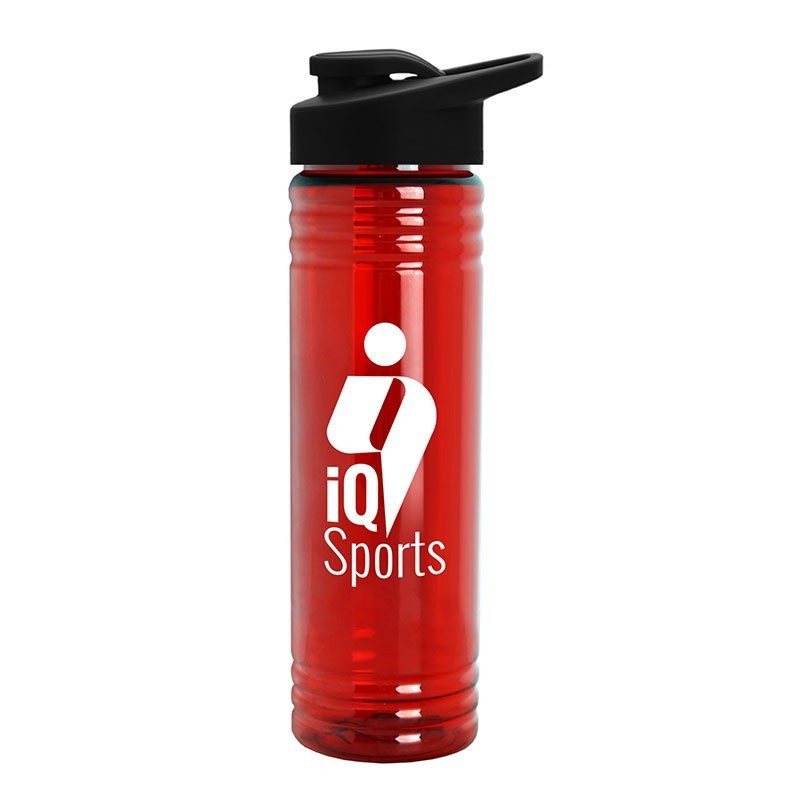 Keep Your Customers Hydrated with This Promotional 24 oz. Slim Fit Water Sports Bottle with Drink-Thru Lid
