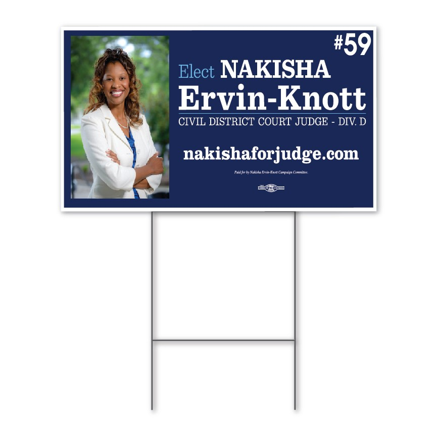 Let Your Company's Voice Be Heard with this Promotional Double-Sided Yard Sign 18'' x 24""