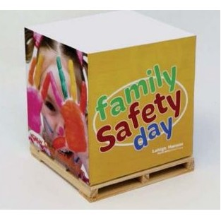 "Wow Your Customers with these Custom 3-3/8"" x 3-3/8"" x 1-3/4"" Sticky Note Pad Blocks with Side Imprints"