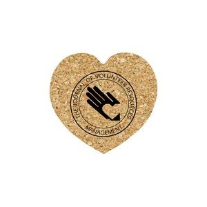 Heart Cork Coaster 5HT