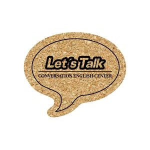 Talk Bubble Cork Coaster