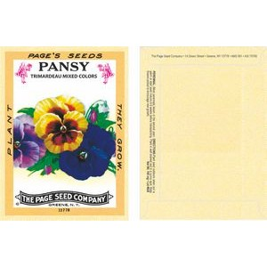 Antique Series Pansy Seeds - Digital Print/ Packet Back Imprint