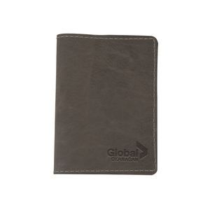 CURRIER Leather Passport Holder