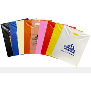 "Heavy Gauge Patch Handle Tote Bag (15""x18""x4"") 2.5 mil"