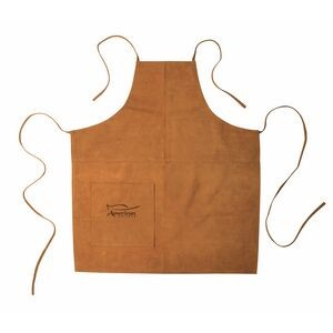 Suede Apron (Full Size) - Laser Engraved (Tobacco)