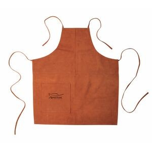 Suede Apron (Full Size) - Laser Engraved (Rust)
