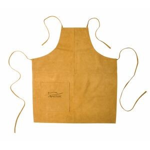 Suede Apron (Full Size) - Laser Engraved (Mustard)