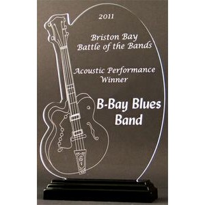 Sound of Music Guitar Award on a Black Base - Acrylic