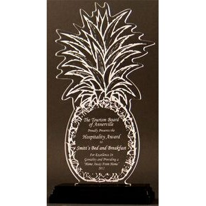 Tropical Pleasure Pineapple Award on a Black Base - Acrylic