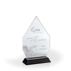 "Royal Diamond Award with Black Base - Acrylic (5""x3 1/2""x1 3/4"")"