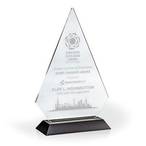 "Brilliant Diamond Award w/ Black Base - Acrylic (7""x5""x1 3/4"")"