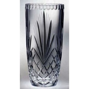 "Raleigh Barrel Trophy Vase - Lead Crystal (12""x6 1/2"")"