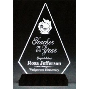 "Brilliant Diamond Award w/ Black Base - Acrylic (10""x7 1/4""x1 3/4"")"