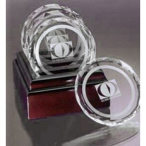 Decorator's Choice Faceted Coaster Set - Optic Crystal
